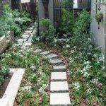 Meandering informal pathways in a small garden