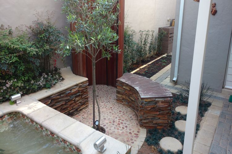 Complex Garden outdoor shower