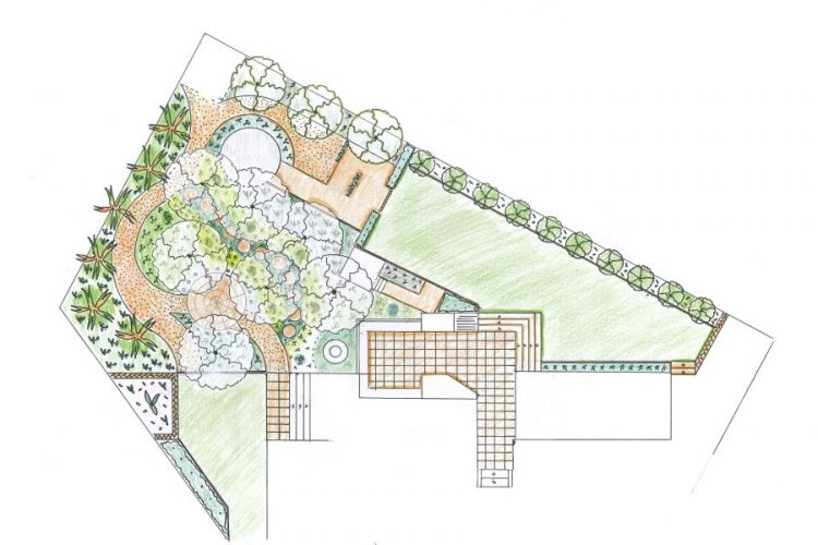 Informal Garden Site Plan