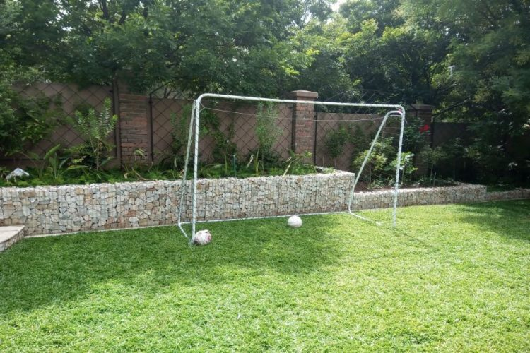 Levelled Lawn for Sport in the Garden