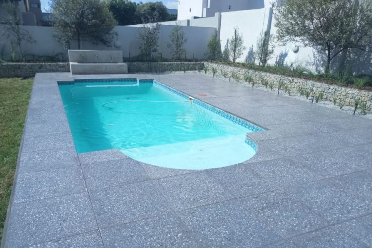 Swimming Pool with soft planting