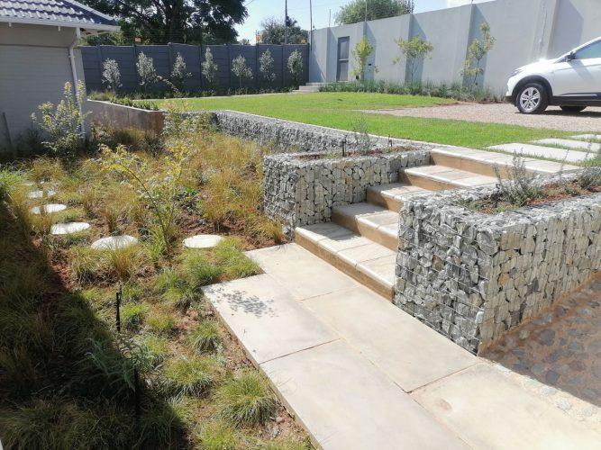 Garden Retention work with Gabions